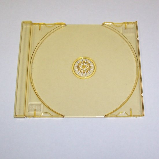 100 SINGLE CD TRAYS - GOLD