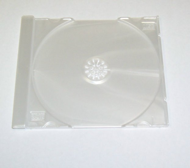 100 SINGLE CD TRAYS - PEARL