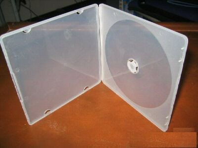 100 5MM ULTRA SLIM CLEAR CD/DVD POLY CASES JS110