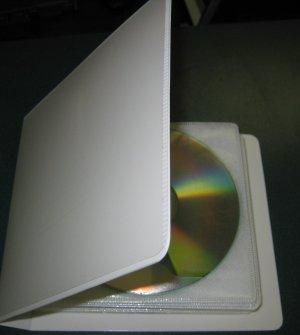 20 DISC CAPACITY  CD / DVD ALBUM CASE, 2 RING,  SET OF 10 CASES - MH11