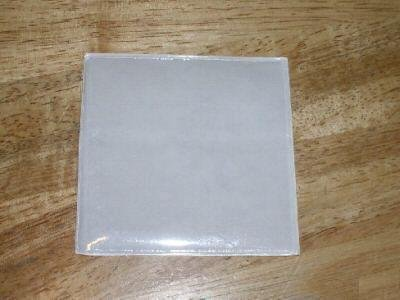 "100 3"" MINI CD VINYL SLEEVES W/ ADHESIVE BACK- JS37"