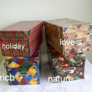 4 Small Decorative Storage Boxes - HOLIDAY Pattern