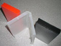 50 STANDARD VHS CASES - BLACK -with center hub - PSV10HUB
