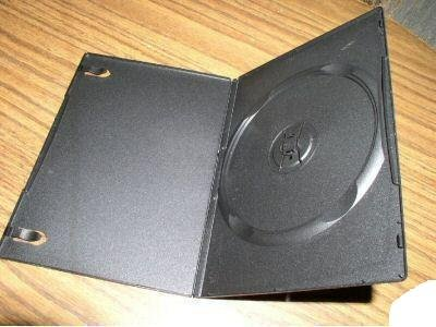 1000 NEW SLIM 7MM SINGLE DVD CASE, BLACK - PSD14