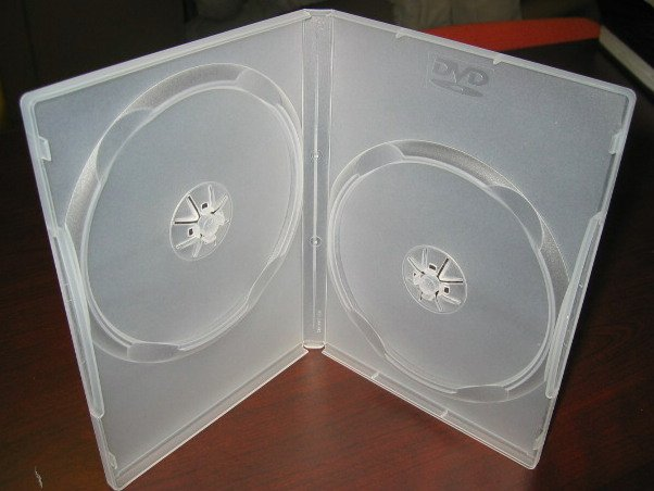 1000 DOUBLE DVD CASES, CLEAR - PSD37