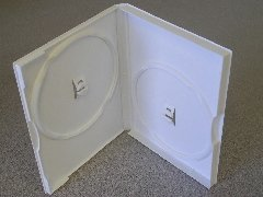 1000 NEW DOUBLE DVD CASES, WHITE - PSD38