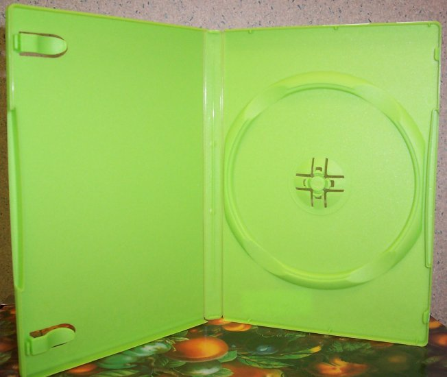 50 NEW STANDARD DVD CASES, GREEN Opaque - BL73