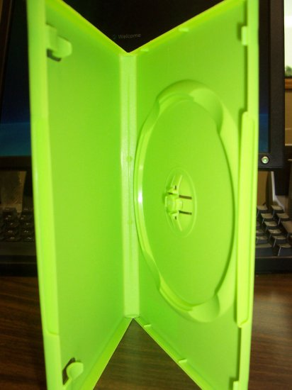 500 NEW STANDARD DVD CASES, GREEN Opaque - BL73