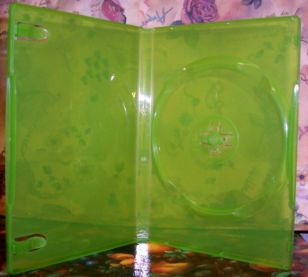50 NEW STANDARD DVD CASES, GREEN Translucent - BL73X