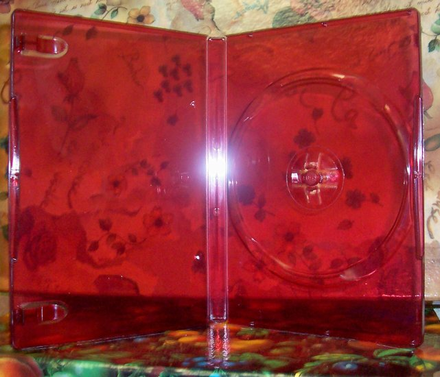 50 NEW STANDARD DVD CASES, RED Translucent - BL72HD