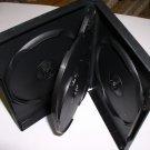 25 QUAD (4) DVD CASES, BLACK - PSD70 - Each Case Holds 4 DVD'S!