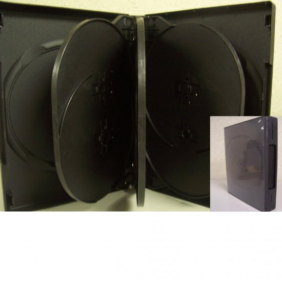 240 MULTI 8 DVD CASE, BLACK - SF003