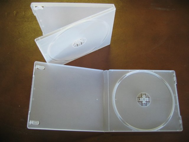 100 SINGLE CD POLY CASE W/SLEEVE, FROSTYCLEAR - PSC12FC