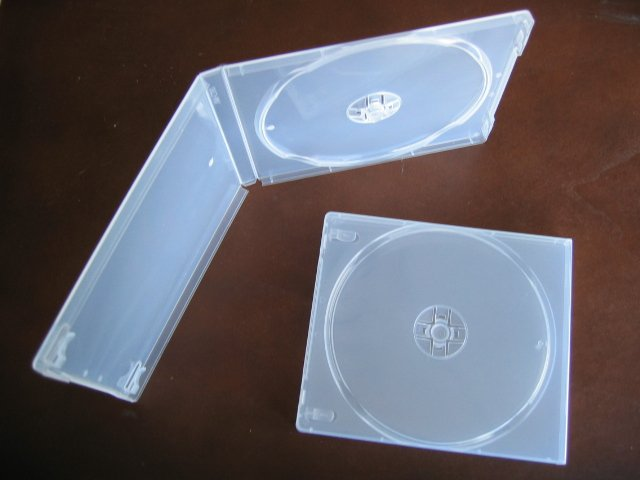 100 SINGLE CD POLY CASE W/SLEEVE, SUPER CLEAR- PSC12SC