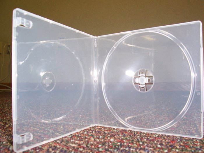 1000 7MM SLIM SQUARE POLY CASES, CLEAR - PSC6