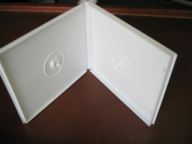 1000 DOUBLE POLY CD CASE W/SLEEVE, WHITE - PSC32