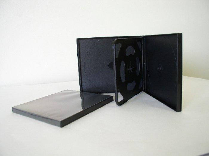 50 SLIM BLACK QUAD CD / DVD POLY CASES PSC75