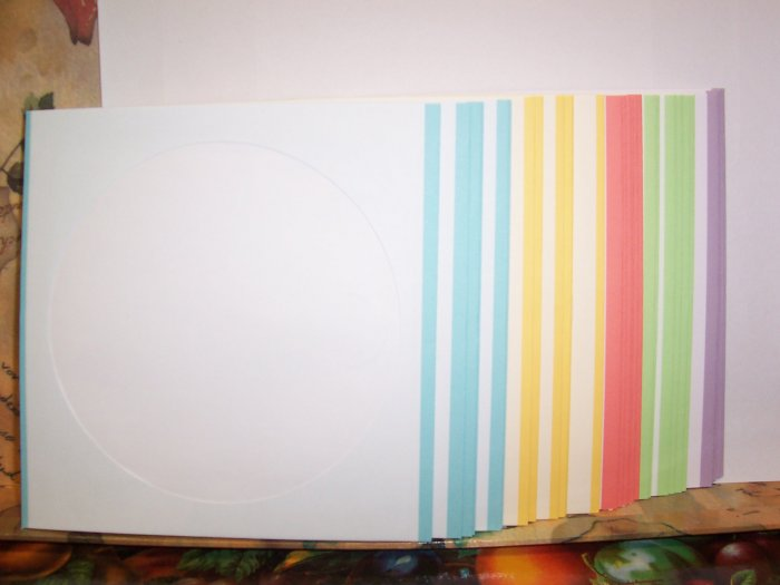 60 WHITE CD DVD PAPER SLEEVES W/COLOR TRIM - JS1206