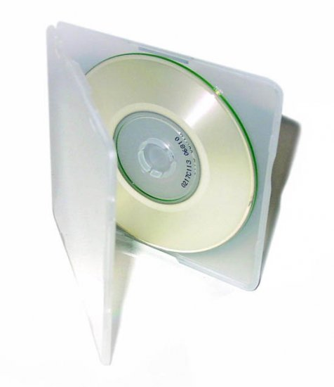 100 MINI CD/DVD POLY CASES - Clear - SF16