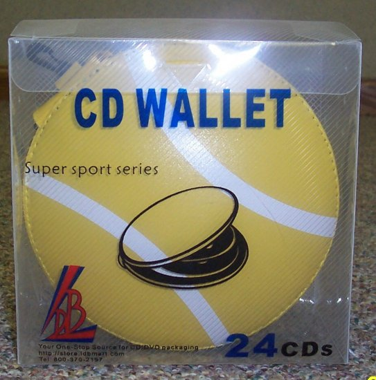 80 SPORTS CD WALLETS - HOLDS 24 CDS each - TENNIS