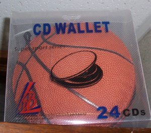80 SPORTS CD CASE WALLETS - HOLDS 24 CDS each - BASKETBALL