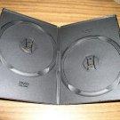 150 BLACK SUPER SLIM DOUBLE 2 DVD  CASES - PSD34