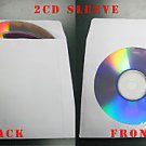 1000 White Double 2 disc CD DVD Paper Sleeve JS214 Gum Flap