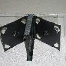 50 MULTI 6  CD JEWEL CASES W/ BLACK TRAYS - PSC90