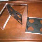 200 DOUBLE CD JEWEL CASE CASES With BLACK TRAY - 2CD
