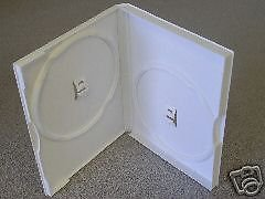 100 NEW DOUBLE DVD CASES, WHITE - PSD38