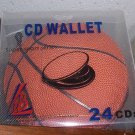 5 24-CD/DVD CAPACITY SPORTS LEATHERETTE WALLET-BASKETB