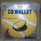 5 24-CD/DVD CAPACITY SPORTS LEATHERETTE WALLET-TENNIS