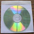 250 Vinyl CD Sleeves w adhesive back, tamper evident V1