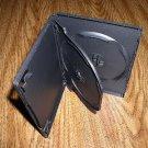 100 DOUBLE DVD CASES W/CENTER FLIP TRAY, BLACK-PSD43