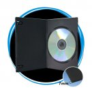 100   7mm Slim Single Black DVD Cases D7SDBLK