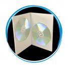 100 7mm Slim Double White DVD Cases D7DDWHI