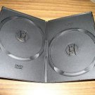 100 BLACK SUPER SLIM DOUBLE 2 DVD  CASES - PSD34