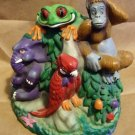 1998 Rainforest Cafe BIG Money Bank Cha Cha, Tuki, Ozzie Rio Vintage