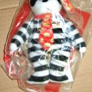 McDonald's Ty Beanie Bear Hamburglar Happy Meal Toy 2004