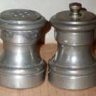 Vintage Pewter Salt and Pepper Mill Shakers - Italy
