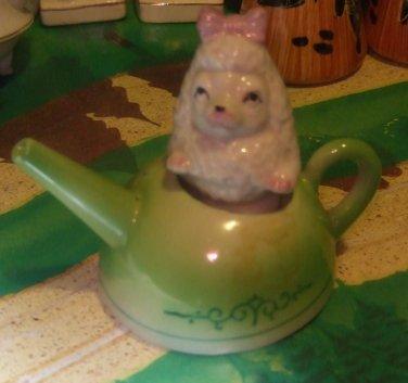 Poodle In Tea Kettle Salt * Pepper