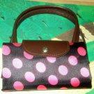 Black & Pink Fold Up Tote Bag