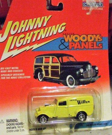 Johnny Lightning Woody's & Panels Yellow '33 Willy's Panel Van