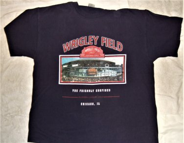 Chicago Cubs Adult X-Large Wrigley Field T-Shirt (XL 2016 World Champs Champion)