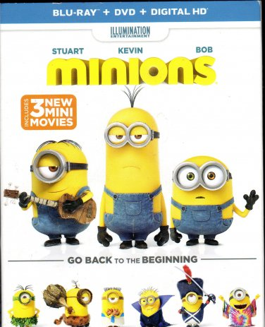 Minions   Blue Ray & DVD