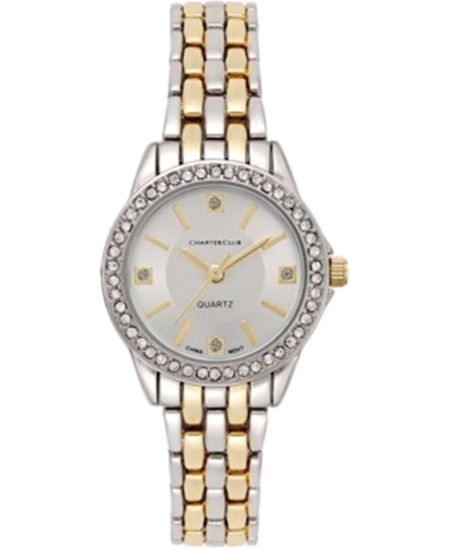 Charter Club 16998 2-Tone Women's Bracelet Watch Silver with Gold 26mm