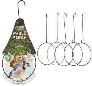 "Paul's Perch 9.5"" Wire Bird Perch with 12"" Hanger Metallic Red Green Blue Purple"