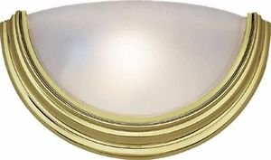 Volume Lighting Polished Brass Gold Sconce Light Alabaster Glass V6613-2 ADA