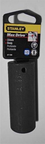 "21mm Stanley Max-Drive 1/2"" Drive 6-Point Deep Impact Socket - Metric"