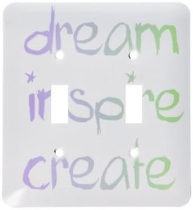 Decorative Wall Light Switch Plate Double Toggle Metal - Dream Inspire Create